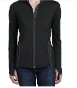 Moses Cone Emerg.Dept Stretch Contrast Full-Zip Women's Jacket